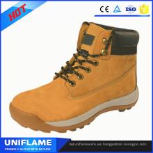 Zapatos de trabajo de seguridad de cuero nobuck con estilo de alta calidad