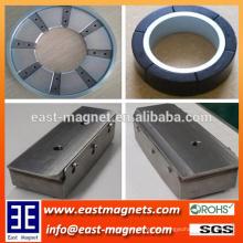 Sonderanfertigung Permanent Neodym NdFeB Magnetmontage für Industrie / Ring oder Blockmontage für Bau- oder Motor