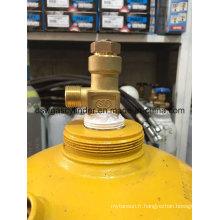 Prix de cylindre de gaz de l'acétylène 2-80L avec de l'oxygène pour le soudage industriel