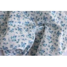 Muselina 100% algodón con estampado de flores