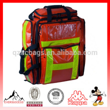 Mochila grande de trauma rojo, mochila de emergencia, bolsa médica, mochila médica, mochila de primeros auxilios