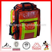 Mochila Red Trauma Grande, mochila de emergência, maleta médica, mochila médica, mochila de primeiros socorros