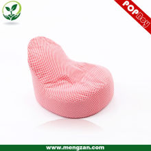 Silla de bolsa de frijol de tela de algodón rosa, beanbag sofá