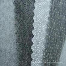 Doublure fusible non tissée double DOT de polyester pour le costume uniforme de chemise