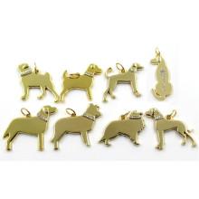 Pendientes de diamantes de diferentes razas de perro 2016 Gold