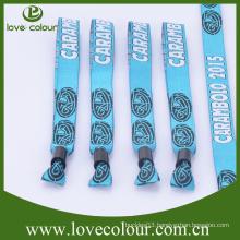 Custom 350*15mm woven wristband/wholesale cheap festival fabric bracelet