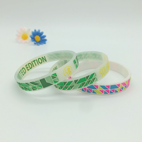 Colorful Ink Filled Bracelets