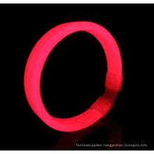 red wide glow bracelet