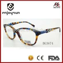 Marco multi-color del acetato de la señora del marco de la manera óptico eyewear