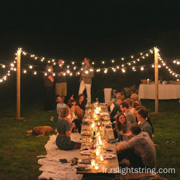 Guirlandes solaires rondes LED String Outdoor