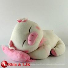 ICTI Audited Fábrica de alta calidad de promoción personalizada peluche de cerdo lindo juguete