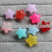 14*23MM & 20*38MM Acrylic Translucence Star Charms Pendants