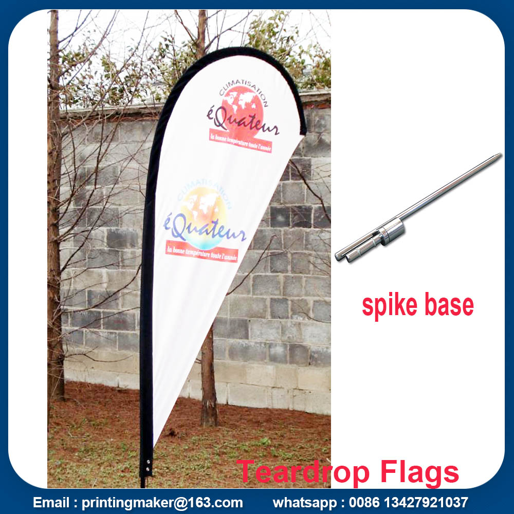 teardrop flags with spike base