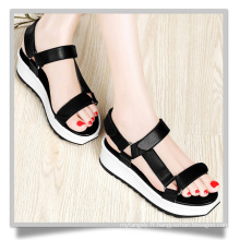 Chaussures plates noires Think Soled Femme Chaussures Sandales