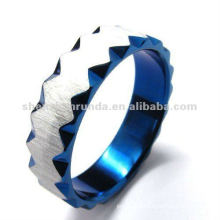 2012 top sell fashion sapphire zigzag men's ring