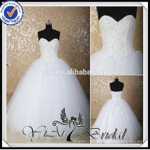 RSW539 billige Sweetheart A-Line Perlen Bling Brautkleider Ballkleid Made in China