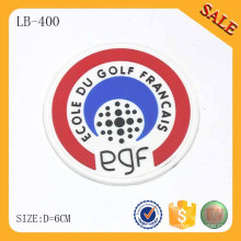 LB400 Heat-attached clothing custom silicone PVC label