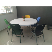 160cm Hot Sale Outdoor Furniture of Plastic Folding Round Table for Party Use