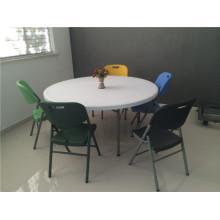 160cm Hot Sale Outdoor Furniture of Plastic Folding Round Table para uso em festa