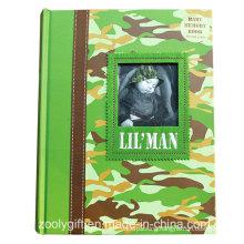 Quality Custom Baby Memory Book / Printing Hard Cover Baby Memory Photo Album Book