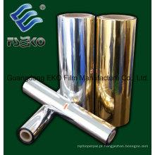 Película de laminação térmica metalizada dourada / prata