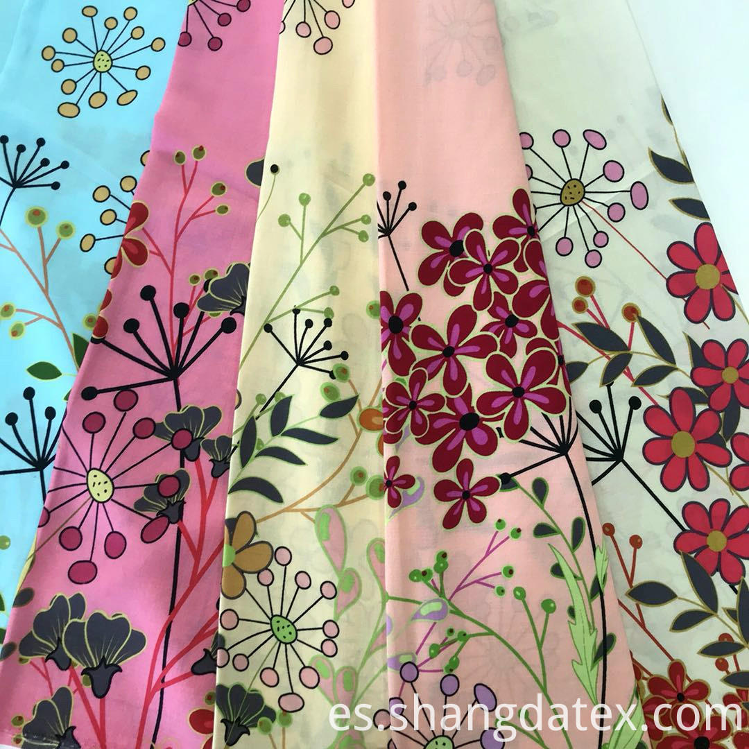 colorful ground rayon fabric