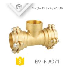 EM-F-A071 Socket type en laiton Femelle fil té bride tuyau raccords