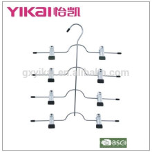 Suitable multifuctional space saving 4-tier chrome plated metal skirt hanger