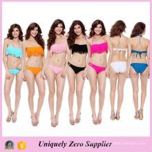 2016 New Arrival Girl Maillot de bain en couleur unie Bikini avec Tassels Beachwear