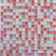 300X300 Color Mixture Glass and Stone Mosaic Wall Tile