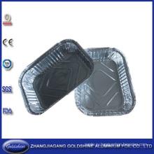 Одноразовые алюминиевой фольги, тарелки для ресторана Пищевая Упаковка
