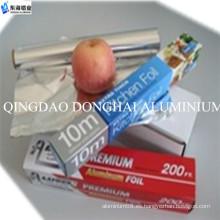 Diseño a medida FDA certificado rollo de papel de aluminio