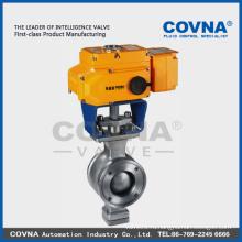 Электрический клапан с фланцем из нержавеющей стали с электрическим приводом 12v 24v 220v 380v