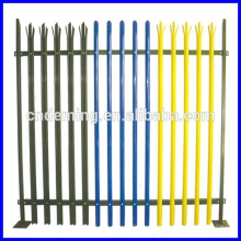 Beautiful Coloured Palisade Steel Fence for decorations of buildings
