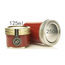 4 Oz Mason Frascos de vidro para geléia, mel, alimentos para bebés, enlatamento, Spice