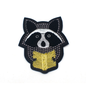 Kleidung benutzerdefinierte Stickerei Red Panda Cute Patch