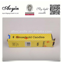 6Pcs Household Candles for Emergency