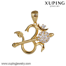 33311 xuping Cupid's Arrow heart shaped Synthetic CZ pendant for women