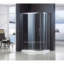 Porte de douche en verre trempé de sécurité hors quadrant avec cadre QA-R1200900