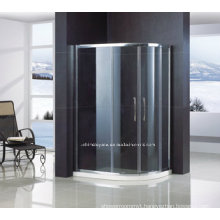 off-Quadrant Safety Tempered Glass Shower Door with Frame QA-R1200900