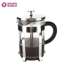Novelty Durable 1.5L Large Heat Reistant Pyrex Stainless Steel Coffee Press