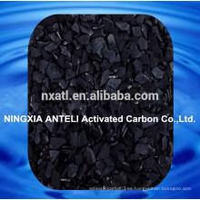 Carbón activado con coco para tratamiento de agua