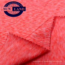 Tejido de punto 18AW tejido de punto de mezcla de mezcla de poliéster color melocotón spandex
