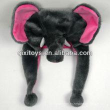encantador animal felpa elefante sombrero