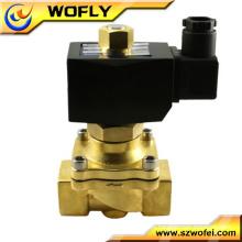 Válvula solenóide pneumática de bobina dupla de 24v DC para compressor