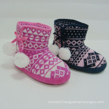 New Christmas arrival hot sale winter fashion warm kids boots wool weave