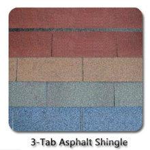 Telha do telhado do asfalto 3-Tab / autoadesiva telha de telhado colorida da fibra de vidro / material telhadura do betume com ISO (12 cores)