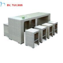 9-куски белого стали бар стол и стул (2031BT+2031BC)