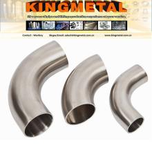 """ASME B16.11 12"""" encaixe aço inoxidável Wp347 tubulação sem emenda do cotovelo 90 graus."""