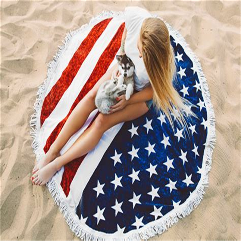 Terry Round Beach Towels